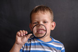malocclusion in European boy - 221694712