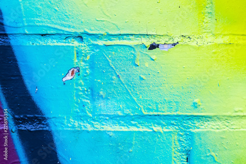 Graffiti painted on a brick wall texture. - 221695354