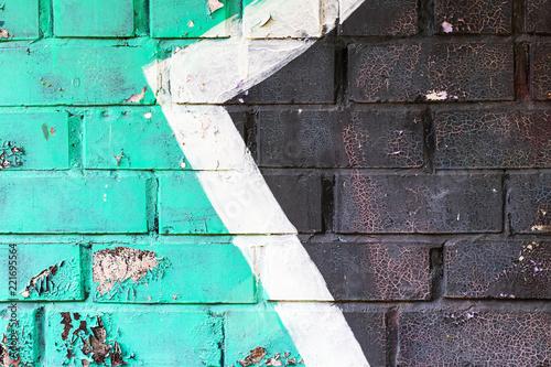 Graffiti painted on a brick wall texture. - 221695564