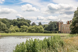 View of the natural landscape surrounding the manor of Blickling Hall in the village of Blickling north of Aylsham in Norfolk County, England - 221703776