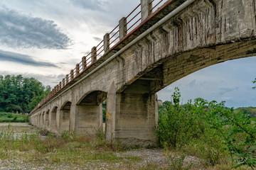 italian bridge near genoa with no maintenance © Andrea Izzotti