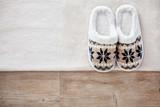Slippers on wooden floor - 221711104