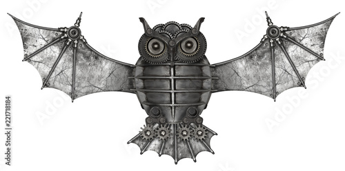 Steampunk style owl