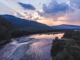 sunset over carpathian mountains - 221719155