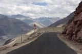 Landscape between Leh and Diskit in Ladakh, India