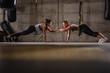 Leinwanddruck Bild - Fitness And Exercise