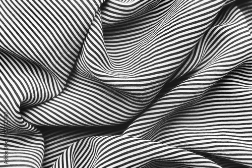 Elegancki czarny i biały jedwab z lampasami, abstrakcjonistyczny tło