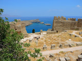 The ruins of an ancient castle. Lindos, Rhodes Island - 221732171