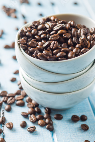 Roasted coffee beans. - 221736943