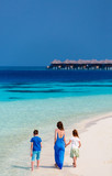 Mother and kids at tropical beach - 221739135