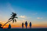 Family at sunset - 221739949