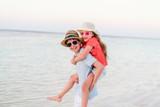 Kids having fun at beach - 221739961