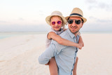 Father and daughter at beach - 221740775