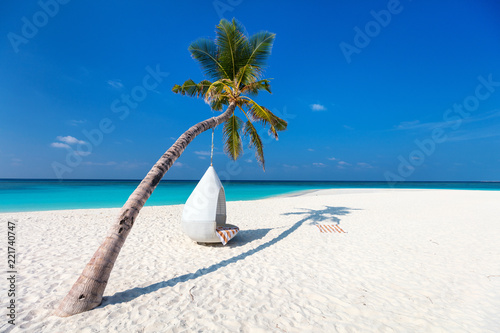 Beautiful tropical beach in Maldives - 221740747