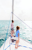 Family on board of sailing yacht - 221740940