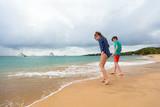 Kids having fun at beach - 221741373