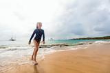 Adorable girl at beach - 221741375