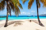 Idyllic beach at Caribbean - 221741551