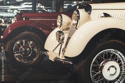 Retro cars at the exhibition - 221749111