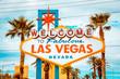 Leinwanddruck Bild - Welcome to Fabulous Las Vegas sign, Las Vegas Strip, Nevada, USA