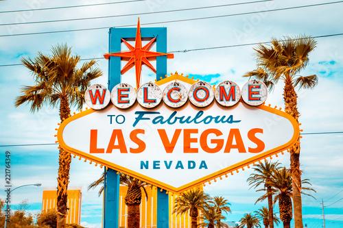 Leinwanddruck Bild Welcome to Fabulous Las Vegas sign, Las Vegas Strip, Nevada, USA
