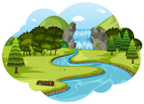 A river in nature landscape - 221769595