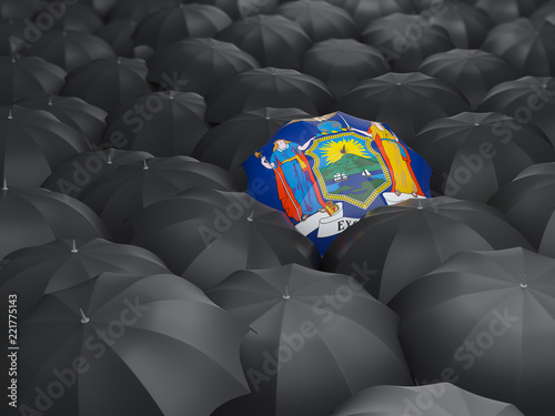 new york state flag on umbrella. United states local flags