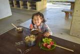 キャンプ場の朝食 - 221778909