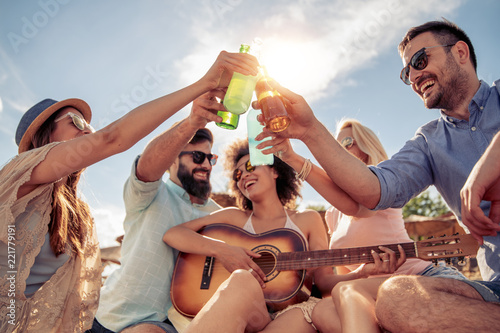 Enjoying summer with friends