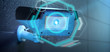 Security camera targeting a detected intrusion - 3d renderinga