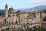Urbino, Italy, ducal palace and city skyline, ancient and historical medieval city - 221781768
