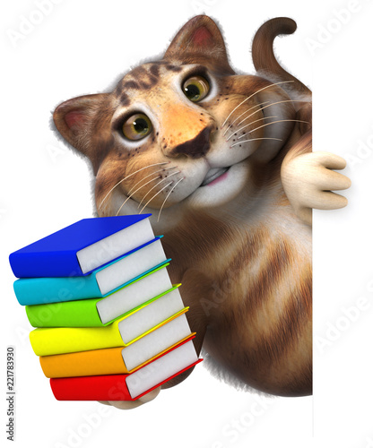 Fun cat - 3D Illustration
