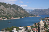 Church of Our Lady of Remedy Kotor bay landscape Montenegro - 221789561