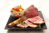 baked lamb chop and vegetable - 221795777