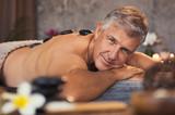 Senior man at beauty spa - 221796951