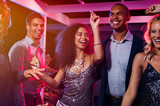 Friends dancing at party - 221797349