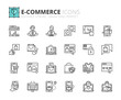 Outline icons about ecommerce