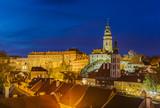 Cesky Krumlov cityscape in Czech Republic - 221802555