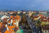 Prague Czech Republic - October 19 2017: People walking on the Charles bridge in Prague - 221802589