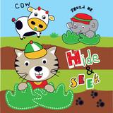 hide an seek funny animals cartoon