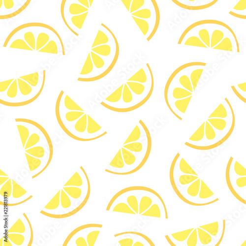 lemon seamless pattern vector illustration - 221813979