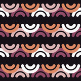 Seamless abstract geometric pattern. Mosaic texture. Semicircle. Wave. Textile rapport. - 221825367