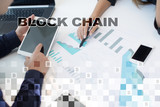 Blockchain technology concept. Internet money transfer. Cryptocurrency. - 221825974