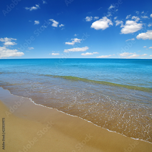 beach and sea - 221839975