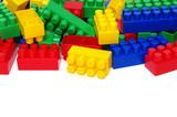 Plastic building blocks on white - 221840915