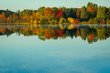 Fall Foliage reflection in Lake