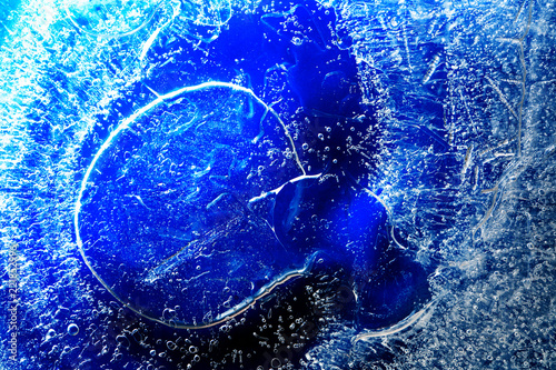 Leinwandbild Motiv Frozen Water Background