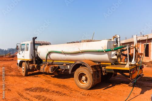 Industrial Vehicle Water Tanker Building Site - 221858578