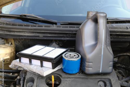 fototapeta na ścianę Spare parts for car maintenance