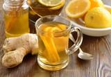 Lemon ginger drink with honey, tea - 221865551